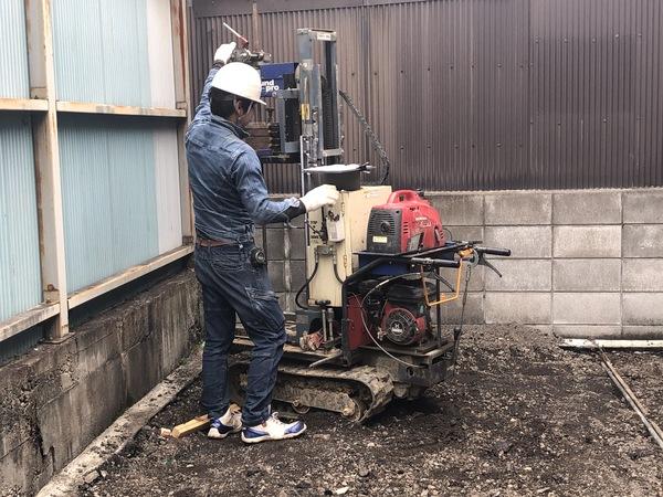 中京区 木造住宅新築工事の地盤調査